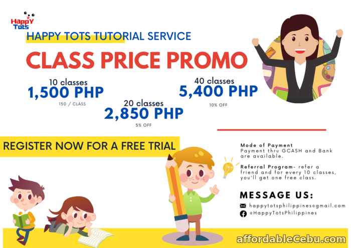 1st picture of Online Tutoring Class with Happy Tots Announcement in Cebu, Philippines