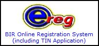 BIR TIN online registration (e-Reg)
