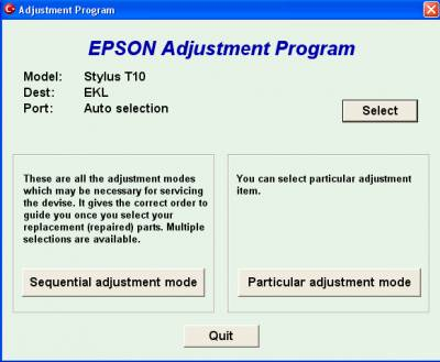 Picture of How to Reset Epson T10 Printer