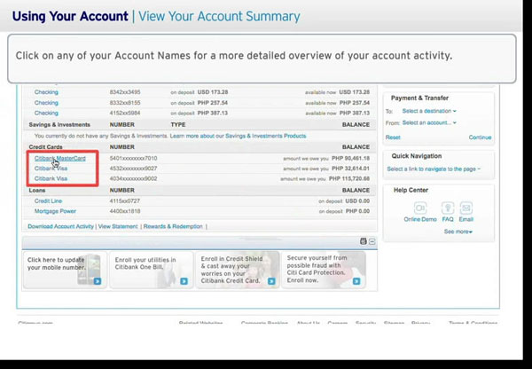 citibank online banking account creation
