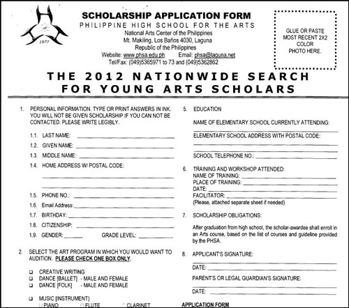 2012 Annual Nationwide Search for Young Art Scholars (ANSYAS) of ...