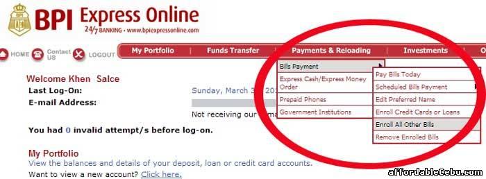 Bpi express online investment account