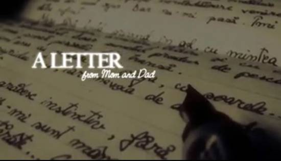 Picture of Most Touching Letter from Mom and Dad (Video)