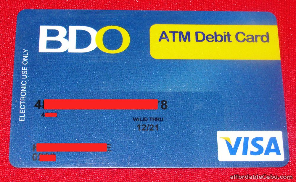 how to activate new bdo atm card banking 29690