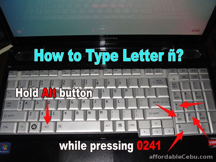 how to type letter enye   u00f1  in laptop keyboard