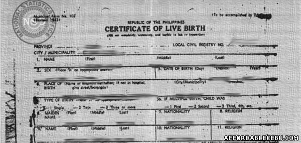 How To Get Birth Certificates In Cebu Civil Documents 397