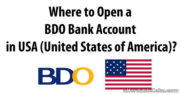 Where to open a bdo bank account in usa united states of - Open a post office bank account online ...