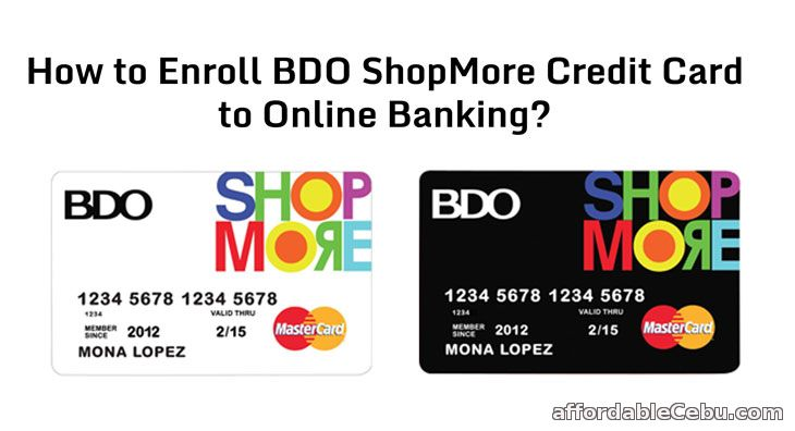 How to Enroll BDO ShopMore Mastercard (Credit Card) to ...