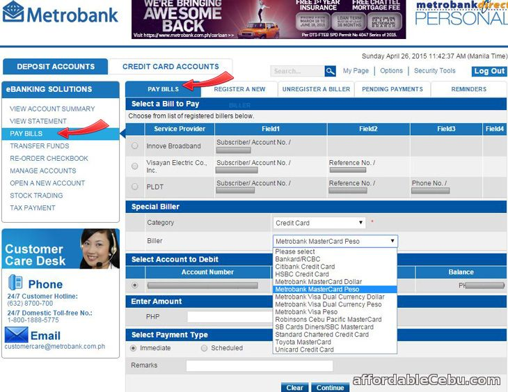 Step-by-step Guide for Metrobank Credit Card Application. Step 1 – Go to neo-craft.gq to apply for credit card online.. Step 2 – Choose the type of credit card that you want to apply for by clicking on the dropdown menu.. Step 3 – Fill out the credit card online application form with all the required information. Make sure to enter complete and correct information on all fields.