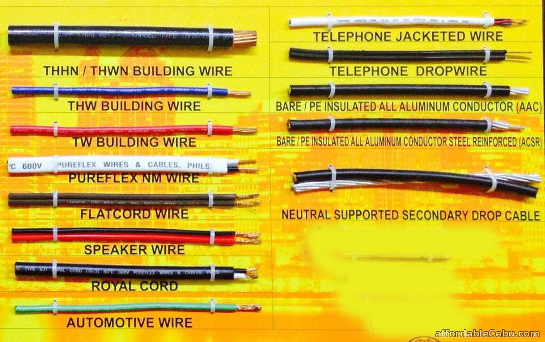 Types Of Electrical Conductors : List of common types wires in the philippines