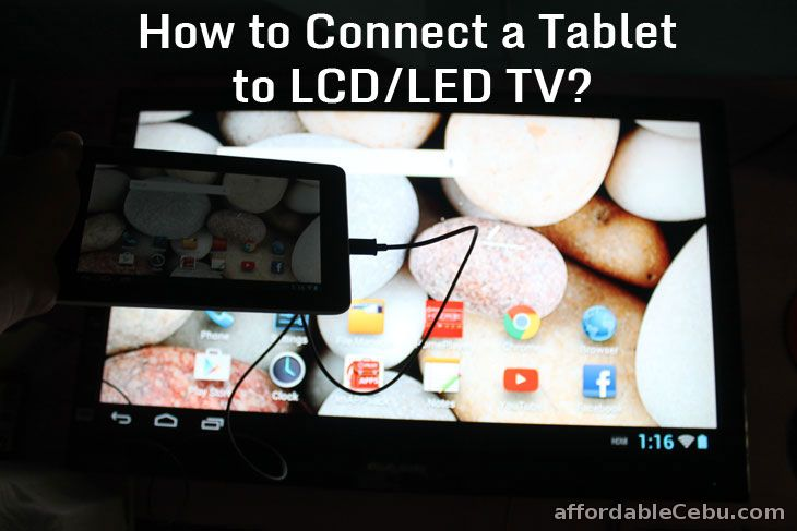 How To Connect Your Tablet To A Tv Lcd Or Led Tv