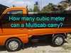 Picture of How many cubic meter can a Multicab carry?