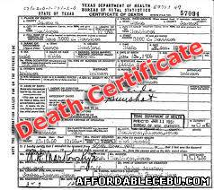 How to apply for late registration of death in cebu civil picture this is only a sample certificate of death the actual certificate of death cod of cebu may differ from this yelopaper Images