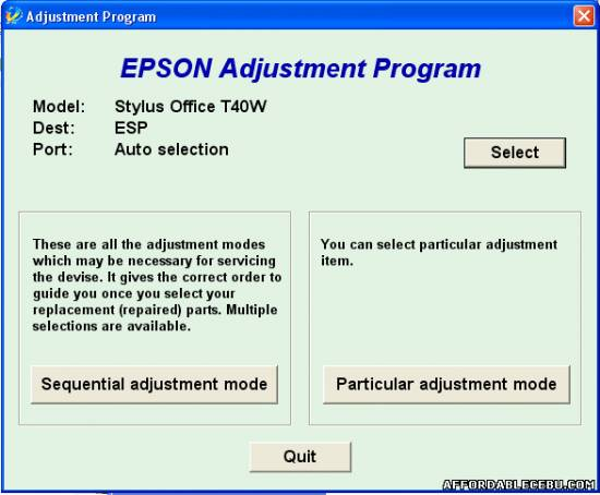 Picture of How to Reset Epson T40W Printer