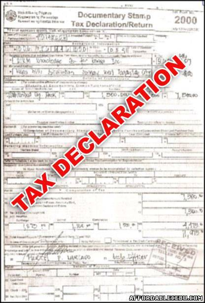 Tax Declaration Of Real Property Requirements