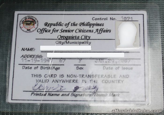 how to get senior citizens identification card id in