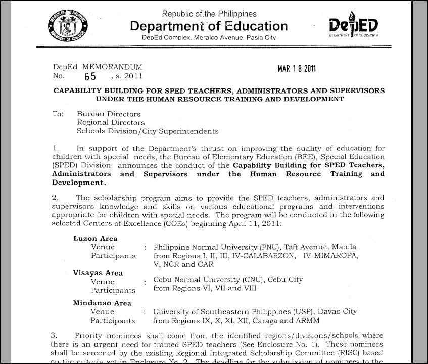 DepEd Announces Capability Building For SPED Teachers