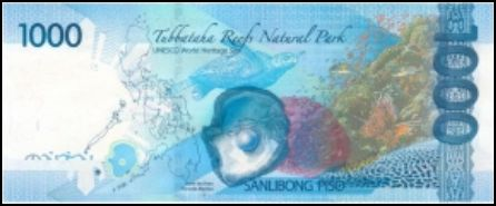 1000 Peso Bill Back View picture