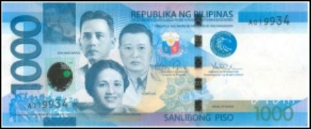 1000 Peso Bill Front View picture