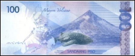 100 Peso Bill Back View