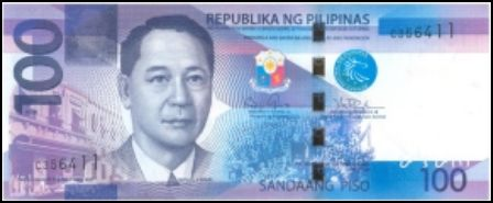 100 Peso Bill Front View picture