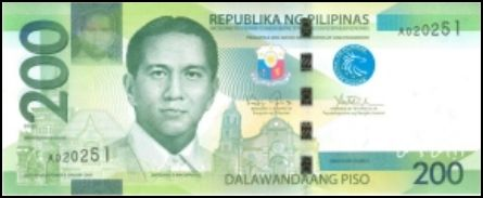 200 Peso Bill Front View picture