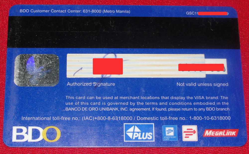 BDO ATM Card
