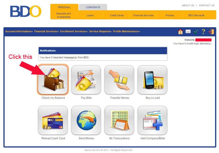 how to pay bdo credit card online