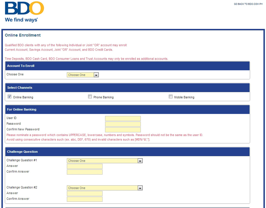 How to Apply for BDO Online Banking? - Banking 1472
