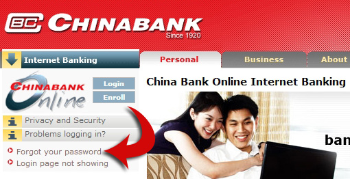 Chinabank online banking website