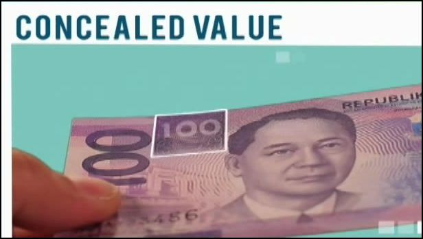 Concealed Denominational Value of the new Philippine Peso Bill