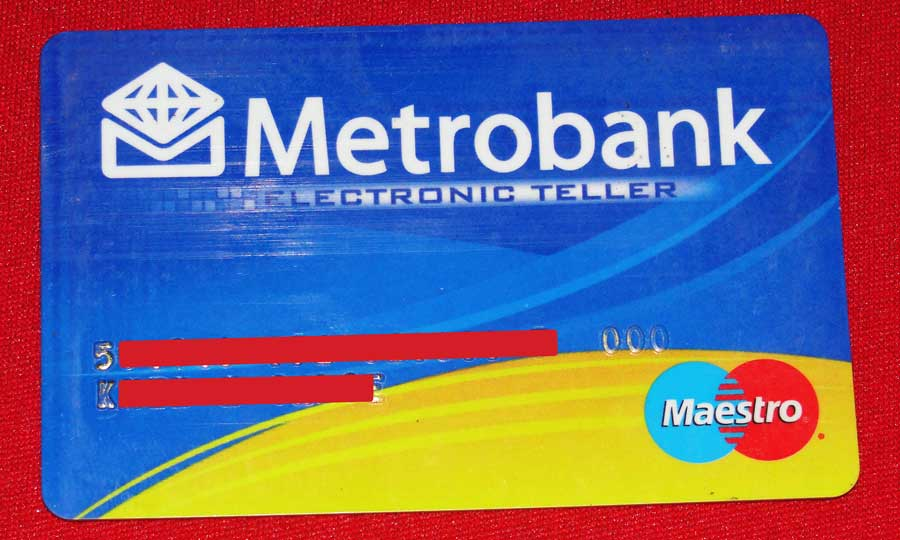 Metrobank ATM Card Front View