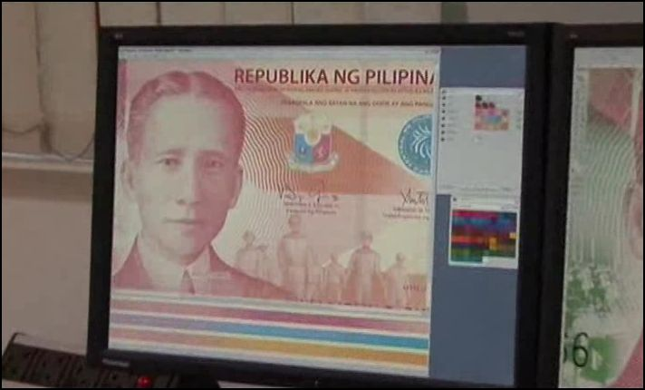 A photo editor software is used to edit the Philippine New Peso Bills designs