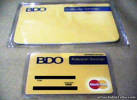 BDO Kabayan Savings Account ATM with Passbook