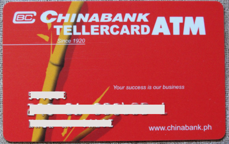 China Bank ATM Card