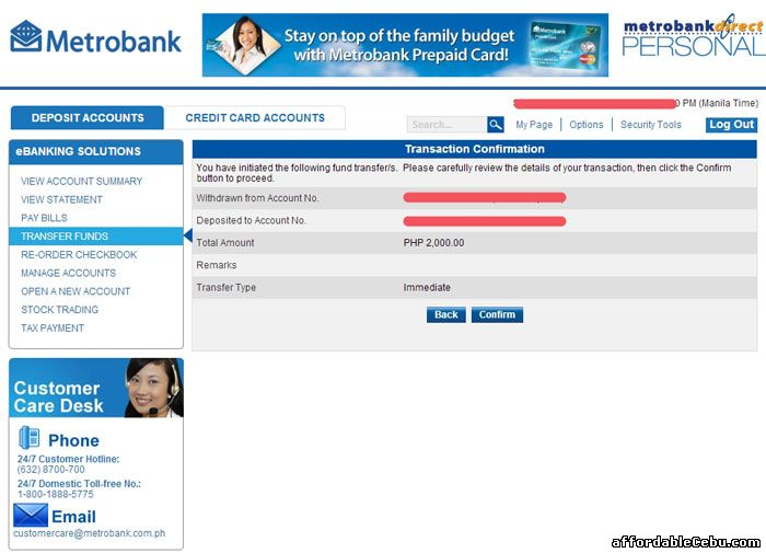 Metrobank Fund Transfer