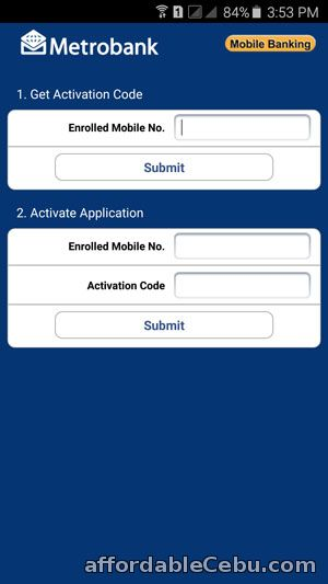 Activate Metrobank Mobile Banking