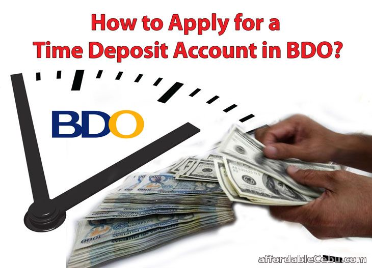 Apply Time Deposit Account in BDO