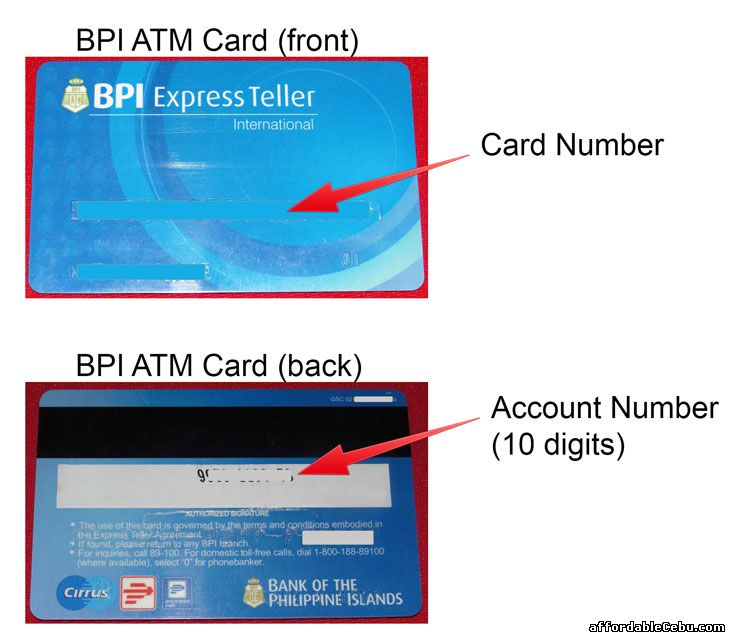 BPI ATM Card - Account Number