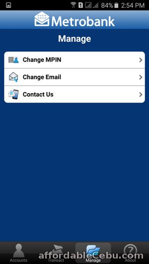 Change MPIN of Metrobank Mobile Banking Account