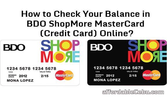 Check credit card balance online