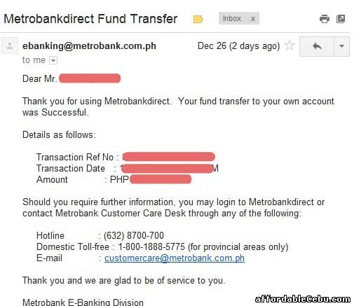 Email from Metrobank