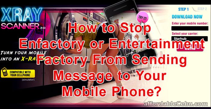 Unsubcribe Mobile Phone from Enfactory Messages