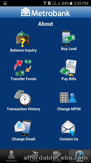 Features of Metrobank Mobile Banking App