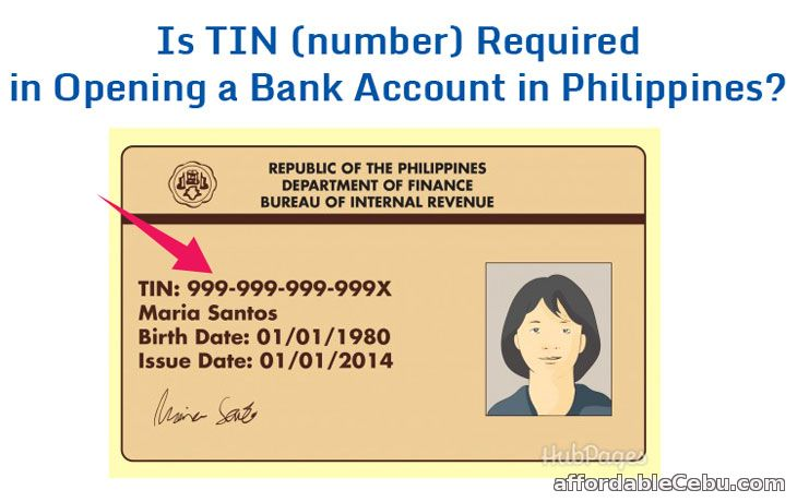 Is TIN required in Opening Bank Account in Philippines