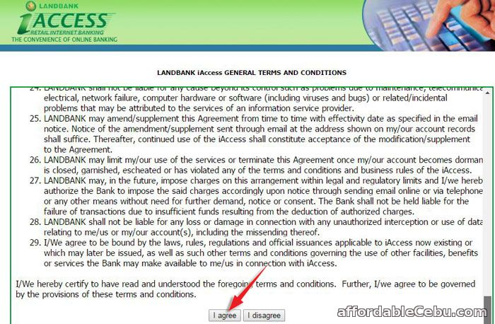 LandBank iAccess Online Banking Terms and Conditions
