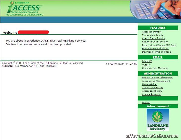LandBank iAccess Internet Banking