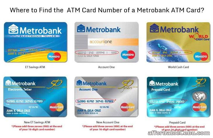 Metrobank ATM Card Number