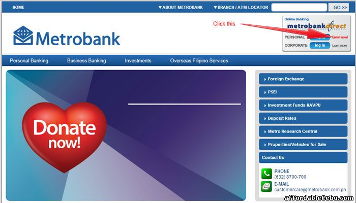 how to use metrobank credit card online