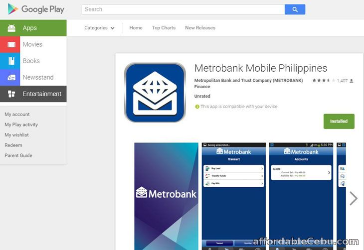 Metrobank Mobile Banking Google Play